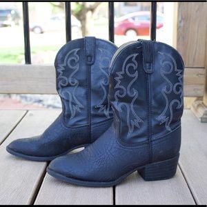 Laredo kids leather cowboy boots